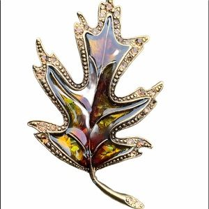Liz Claiborne Vintage Signed LC Fall Pin / Brooch